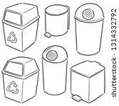 vector set of recycle garbage | Shutterstock .eps vector #1314332792