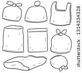 vector set of plastic bag | Shutterstock .eps vector #1314334328