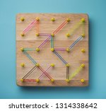 low tech fun game with wooden... | Shutterstock . vector #1314338642