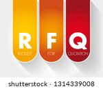 rfq   request for quotation... | Shutterstock .eps vector #1314339008