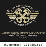 cafe racer. handmade script... | Shutterstock .eps vector #1314351518