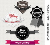 set of vintage premium and high ... | Shutterstock . vector #131435402