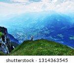 view from the gonzen peak in... | Shutterstock . vector #1314363545