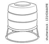 vector of water storage tank | Shutterstock .eps vector #1314366698