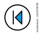 backward vector icon