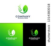 leaf nature logo design | Shutterstock .eps vector #1314383018