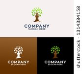 tree nature logo design  | Shutterstock .eps vector #1314384158