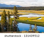 The Yellowstone River Meanders...