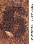 rusty number six on rusty metal ... | Shutterstock . vector #1314403322