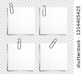 set of realistic paper clip... | Shutterstock .eps vector #1314405425