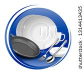 icon of clean tableware  white... | Shutterstock .eps vector #1314413435