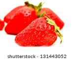 fresh red strawberry | Shutterstock . vector #131443052