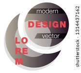 minimalistic design  creative... | Shutterstock .eps vector #1314437162