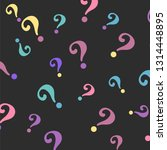 question mark pattern. question ... | Shutterstock .eps vector #1314448895