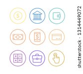 business vector icons. finance... | Shutterstock .eps vector #1314449072