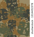 abstract camouflage pattern... | Shutterstock .eps vector #1314452378