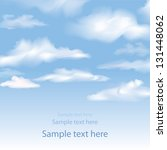 blue sky with clouds. vector... | Shutterstock .eps vector #131448062