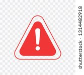 warning icon. the attention... | Shutterstock .eps vector #1314482918