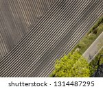 aerial of ploughed and sown... | Shutterstock . vector #1314487295