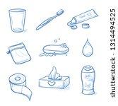 set of bathroom  hygiene... | Shutterstock .eps vector #1314494525