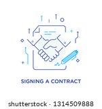 businessmen shaking hands.... | Shutterstock .eps vector #1314509888