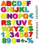 vector magnets of alphabet ...   Shutterstock .eps vector #13145197
