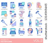 disability icons including... | Shutterstock .eps vector #1314545645