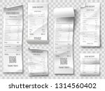 shopping receipt. retail store... | Shutterstock .eps vector #1314560402
