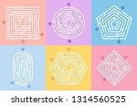 labyrinth game. maze conundrum  ... | Shutterstock .eps vector #1314560525