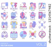 esports icons including ping ...   Shutterstock .eps vector #1314567482
