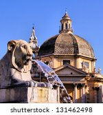 Lion Fountain In Piazza Del...