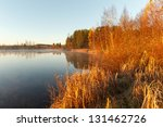 Stock photo morning on the bank of autumn lake 131462726