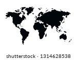 world map cartoon | Shutterstock .eps vector #1314628538