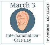 international ear care day.... | Shutterstock .eps vector #1314631235