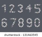 drilled metallic numbers design ... | Shutterstock .eps vector #131463545