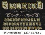 3d font alphabet script... | Shutterstock .eps vector #1314637652