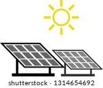 solar panel on roof. isometric... | Shutterstock .eps vector #1314654692