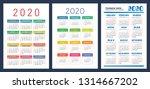 calendar 2020. colorful set....   Shutterstock .eps vector #1314667202