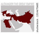 vector map of the alexander the ... | Shutterstock .eps vector #1314670685