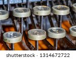 detail of a historic dusty... | Shutterstock . vector #1314672722