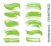 abstract lime green strokes set ...   Shutterstock .eps vector #1314673622