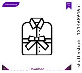shirt gift vector icon. best...