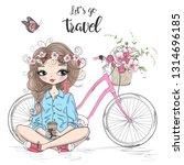 hand drawn beautiful cute... | Shutterstock .eps vector #1314696185