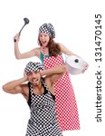 pair of funny cooks on white | Shutterstock . vector #131470145