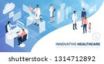 professional doctors and... | Shutterstock .eps vector #1314712892