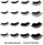 eyelashes   Shutterstock .eps vector #131472422