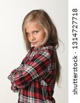 portrait of a girl with long...   Shutterstock . vector #1314727718