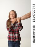 portrait girl with long blond...   Shutterstock . vector #1314727745