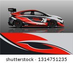 car wrap design vector  truck... | Shutterstock .eps vector #1314751235
