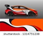 car wrap design vector  truck... | Shutterstock .eps vector #1314751238
